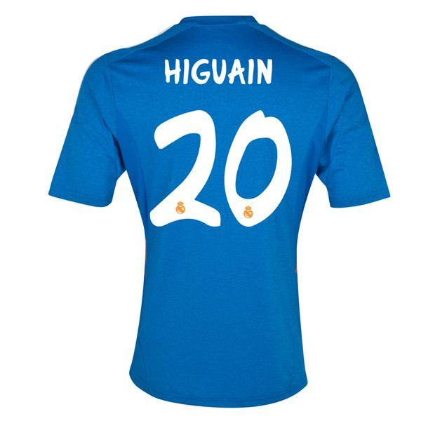 2013-2014 Real Madrid Adidas Away Football Shirt 20 Higuain http://www