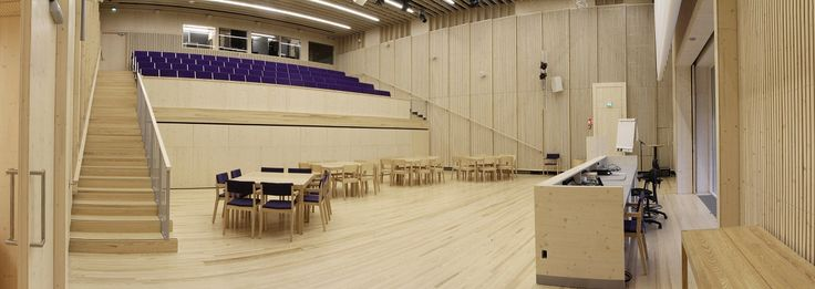 Auditorium with the seats in (group work form). Photo: Aura Piha