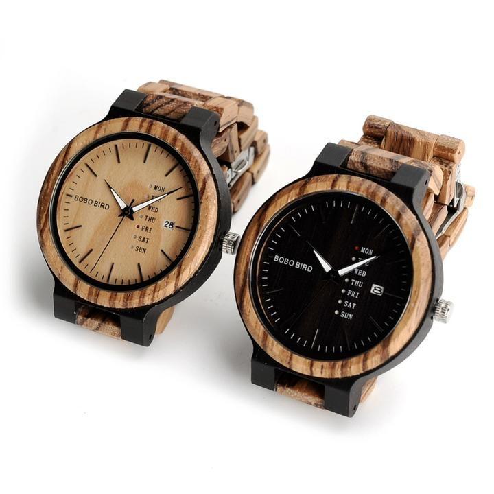 Bobo Bird Canada Best Wood Watches Quartz Movement Calendar Watch