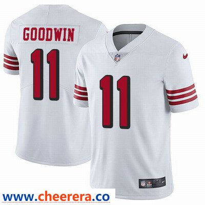 Nike San Francisco 49ers  11 Marquise Goodwin White Rush Men s Stitched NFL  Vapor Untouchable Limited 2be473ace