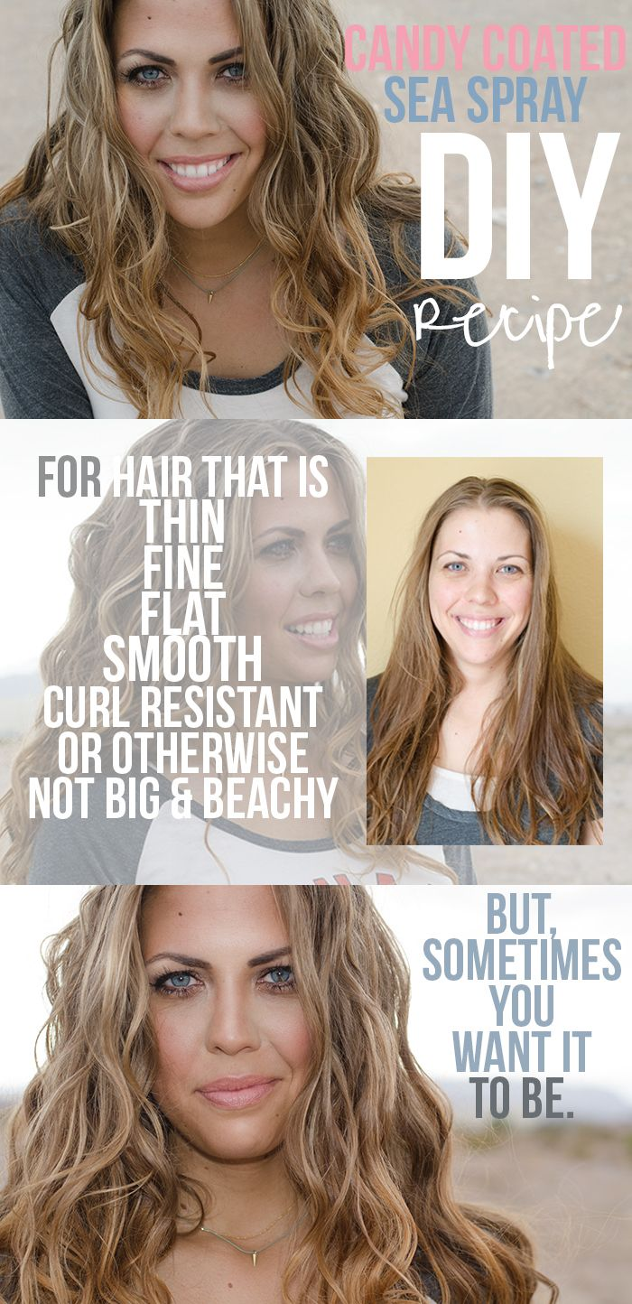 {Candy Coated Sea Spray} DIY to get those beach hair waves you crave