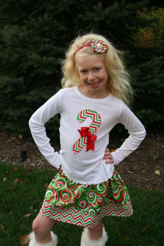 Candy Cane Christmas Shirt, Christmas Shirt, Christmas Shirts for Girls, Toddler Christmas Shirt, Girl Christmas Shirt