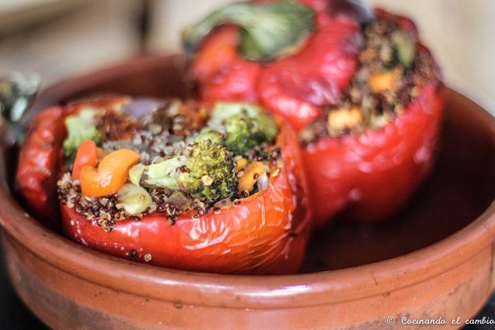 Pimientos rellenos de quinoa - Cocinando el Cambio