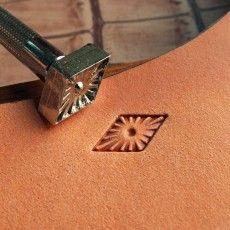 leathercraft tool, leather craft tool, leather stamps, Geometric-9