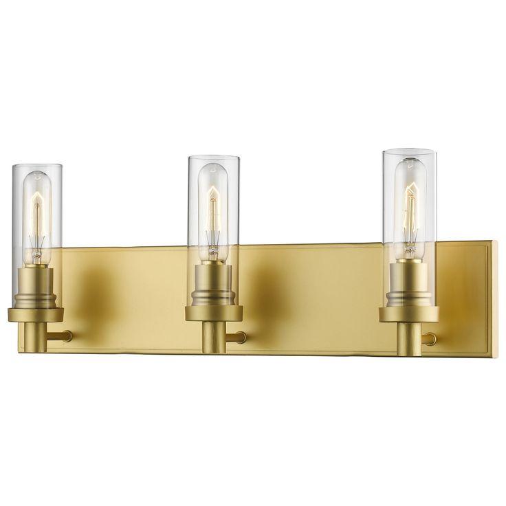 Best VANITY LIGHTING Images On Pinterest Vanity Lighting - Gold bathroom vanity lights