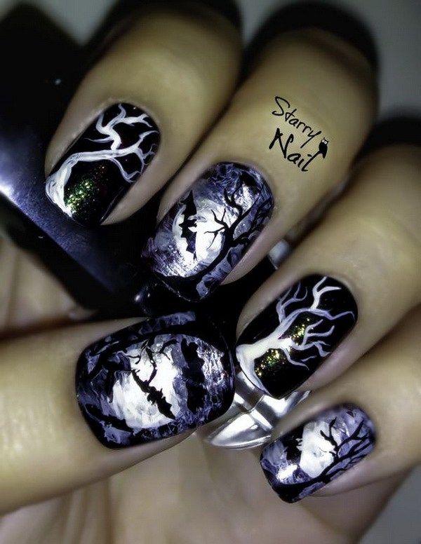 épinglé par ❃❀CM❁✿Scary Midnight Halloween Nail Designs. Halloween Nail Art Ideas. http://miascollection.com