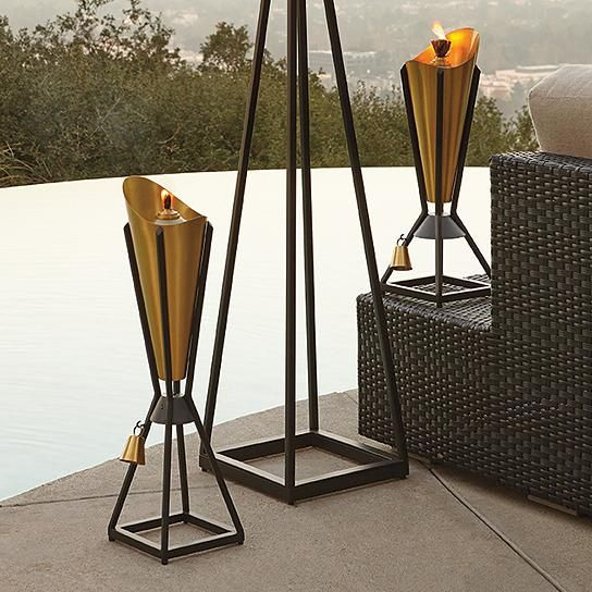 Hilligard Brass Tabletop Torch By Porta Forma. Garden TorchModern Outdoor  LivingModern ...