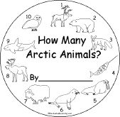 How Many Arctic Animals Book for Early Readers - EnchantedLearning.com