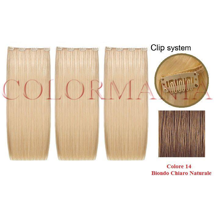 SHE HAIR EXTENSION THREEASY KIT 3 FASCE CON CLIP COLORE BIONDO CHIARO NATURALE