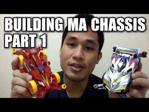 Building MA chassis Part 1【ミニ四駆】Tamiya Mini 4WD #2