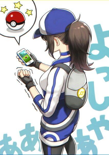 ♥ Girl... Pokeball(s)... Ponytail... Pokémon... Pokémon GO!... Female…