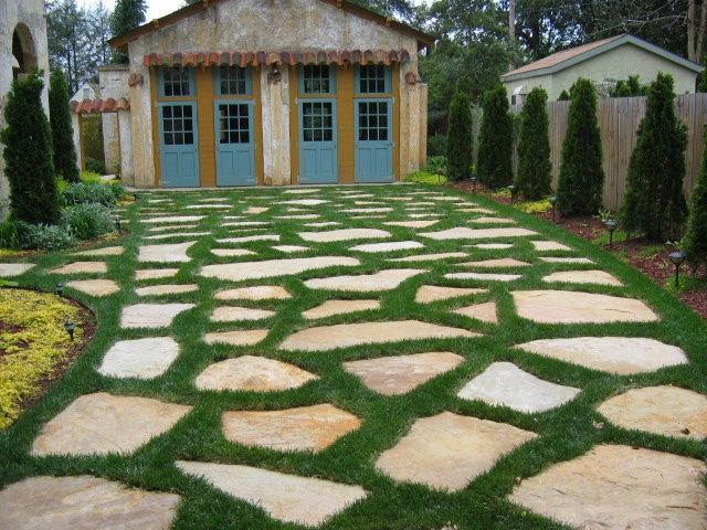 Moss And Stone Driveway Grass And Stone Driveway In