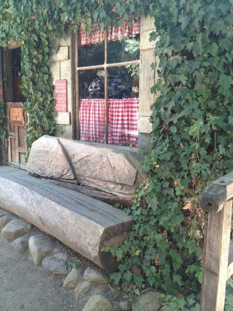Log Bench Cold Spring Tavern Diy Backyard Ideas