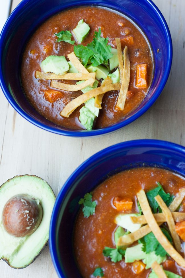 Southwestern Black Bean and Sweet Potato Soup is simple enough for a weeknight meal, an can be made vegetarian! | My Cooking Spot