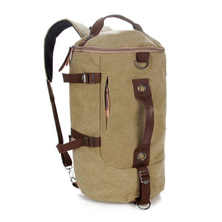 HOT! Men's Backpack Outdoor Canvas Hiking Travel Military Messenger Bag 6 Colors #Unbranded #Vintage