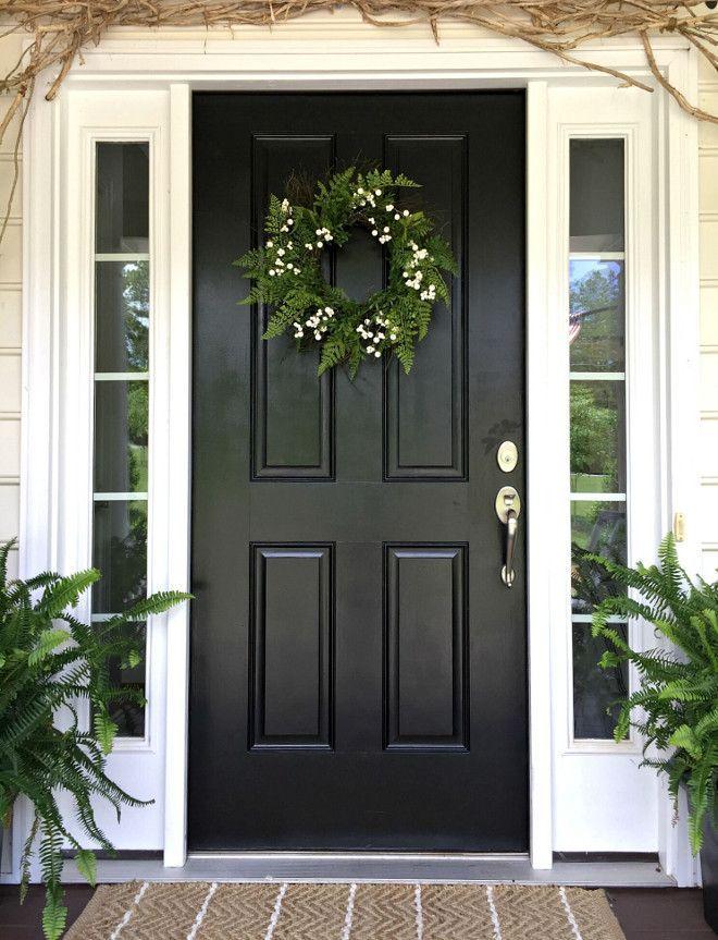 Black Door Black Front Door Front Door Color Is Basic Black Exterior Paint Blackdoor Blackfront Painted Front Doors Black Front Doors Black Exterior Doors