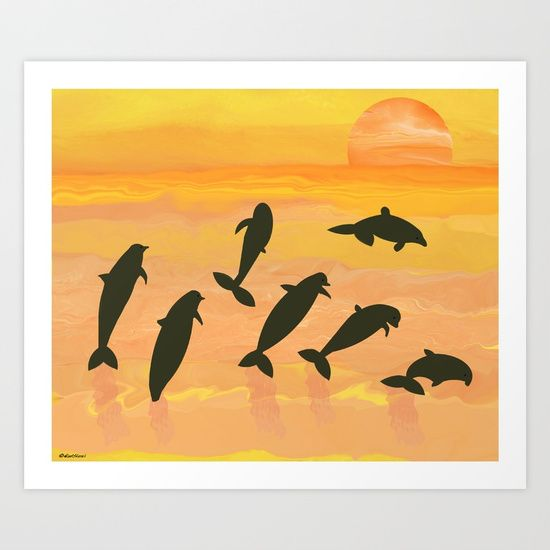 Collect your choice of gallery quality Giclée, or fine art prints custom trimmed by hand in a variety of sizes with a white border for framing. https://society6.com/product/fun-in-the-sun580008_print?curator=listenleemarie
