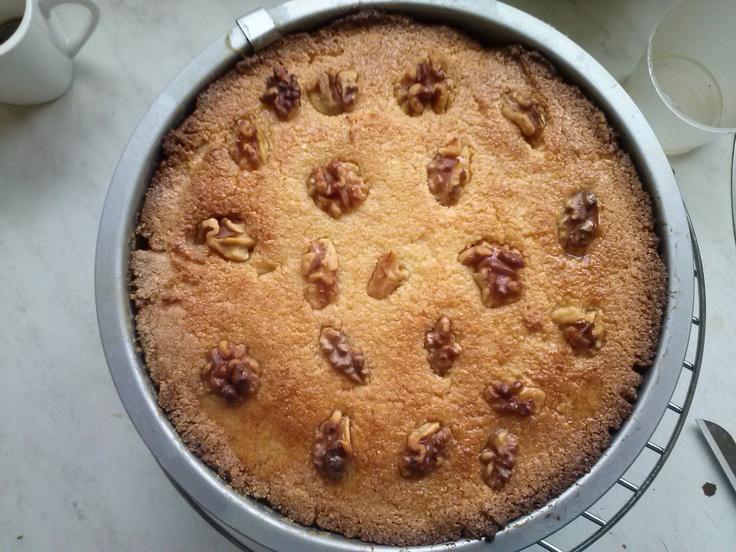een hele lekker egyptische cake van griesmeel