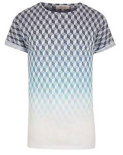White faded geometric print t-shirt - print t-shirts - t-shirts / vests -  men