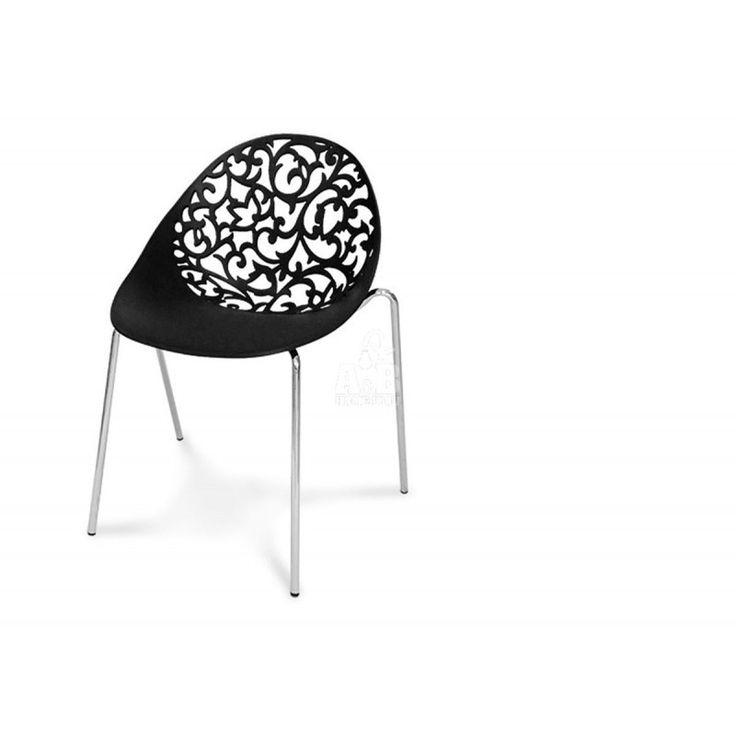 Black Modern Openwork Chair