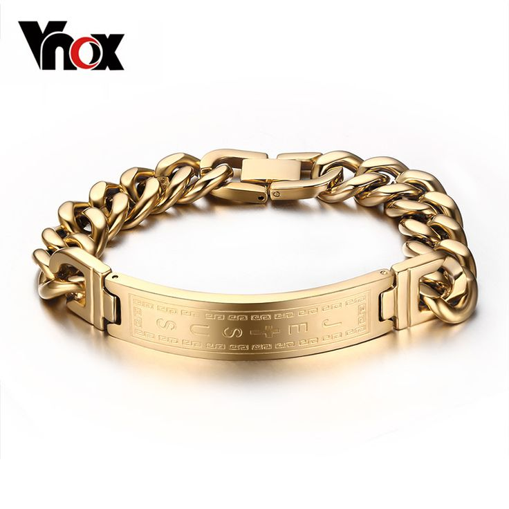 18k gold plated bracelets bangles fashion men jewelry jesus cross stainless steel personalized charm man gifts