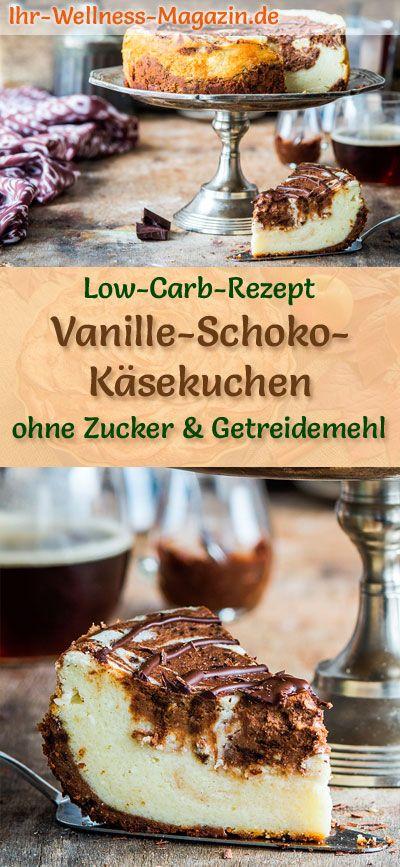 Low Carb Vanille-Schoko-Käsekuchen – Rezept ohne Zucker ccbbf292afbbcd74eb60cf2b480fef6f