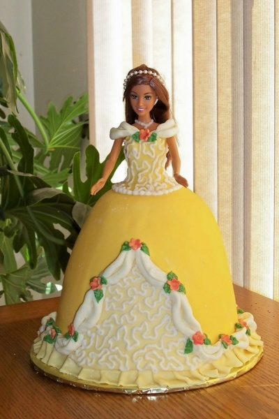 Torey's Princess Doll Cake By roslynscakes on CakeCentral.com
