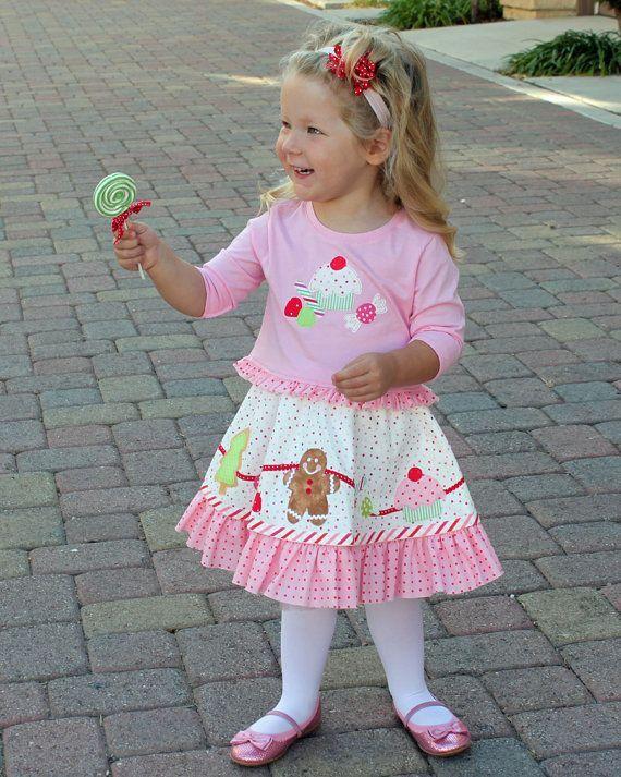 christmas dresses for toddler girls | Christmas dress toddler girls applique pdf by mackandlilypatterns, $7 ...