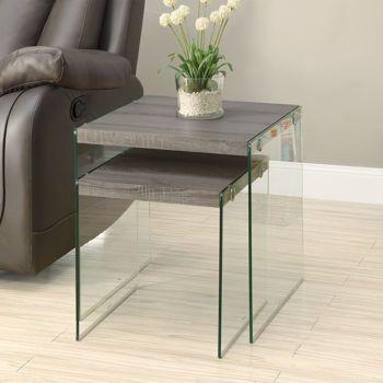 Payne Dark Taupe Nesting Table Set