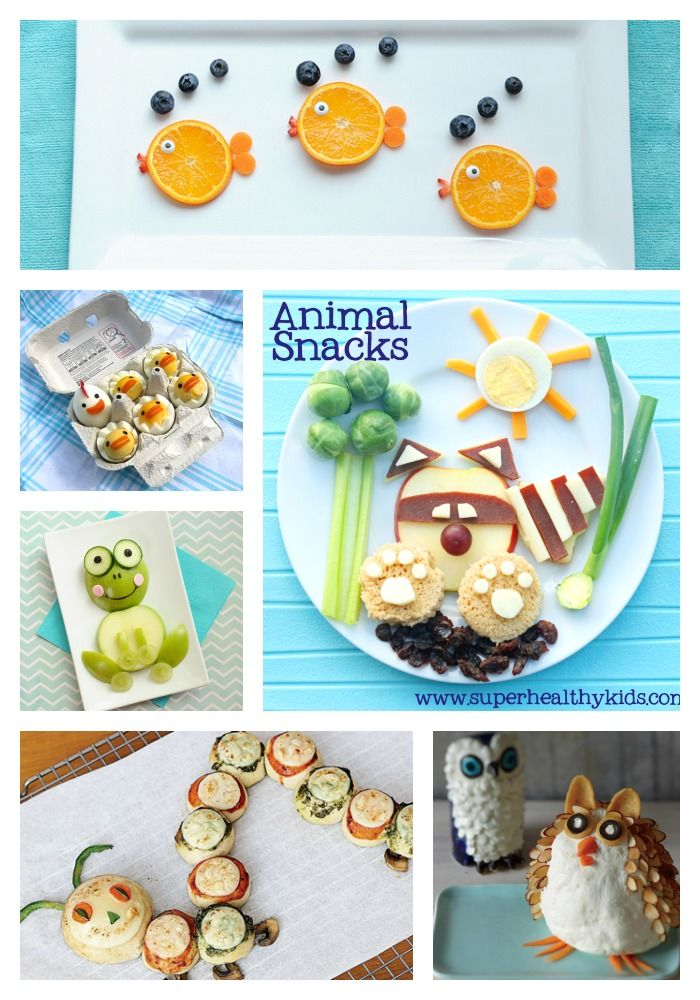 Fun and Healthy Animal Shaped Snacks!  So easy and simple - help your picky eater try new foods in a fun way!