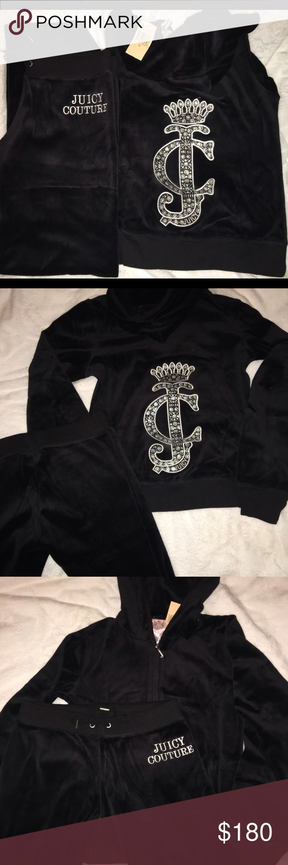 NWT Black Juicy Couture Tracksuit size M Brand new with tags Black Juicy Couture tracksuit size Medium. Juicy Couture Other
