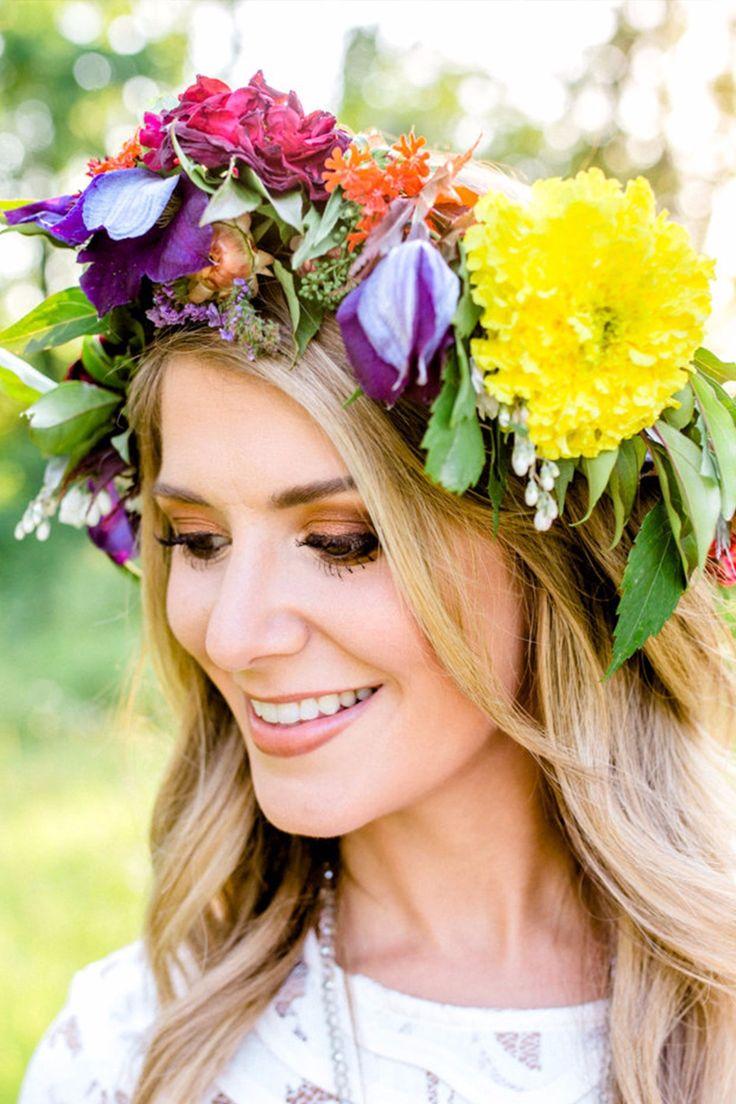 Веселые цветочные короны