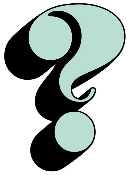 """Benguiat Caslon question mark, FROM: PHOTOLETTERING.COM VIA: MAIA.  From a blog called """"We Love Typography"""", should be a goldmine for anyone interested."""