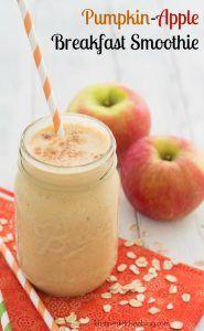 Pumpkin-Apple Breakfast Smoothie - a healthy fall smoothie! | Kristine's Kitchen