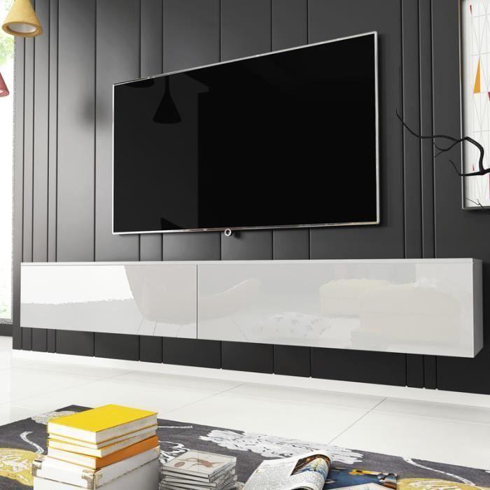 Meuble Tv Meuble De Salon Kane 180 Cm Blanc Mat Blanc Brillant Sans Led Style Moderne En 2020 Meuble Salon Meuble Tv Meuble Tv Moderne