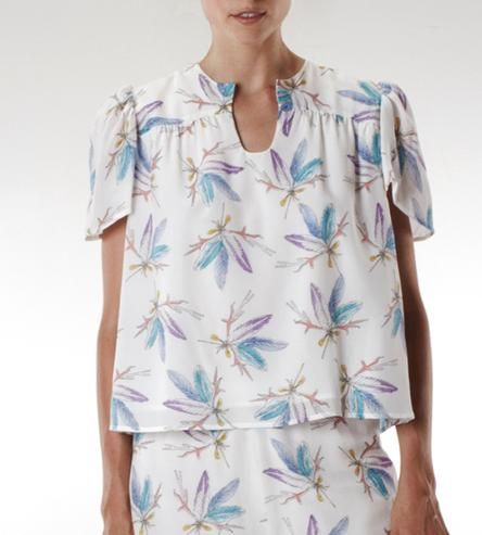 Printed Silk Harry Shirt