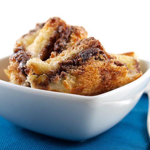 raspberry nutella bread pudding | The Yummy Stuff | Pinterest