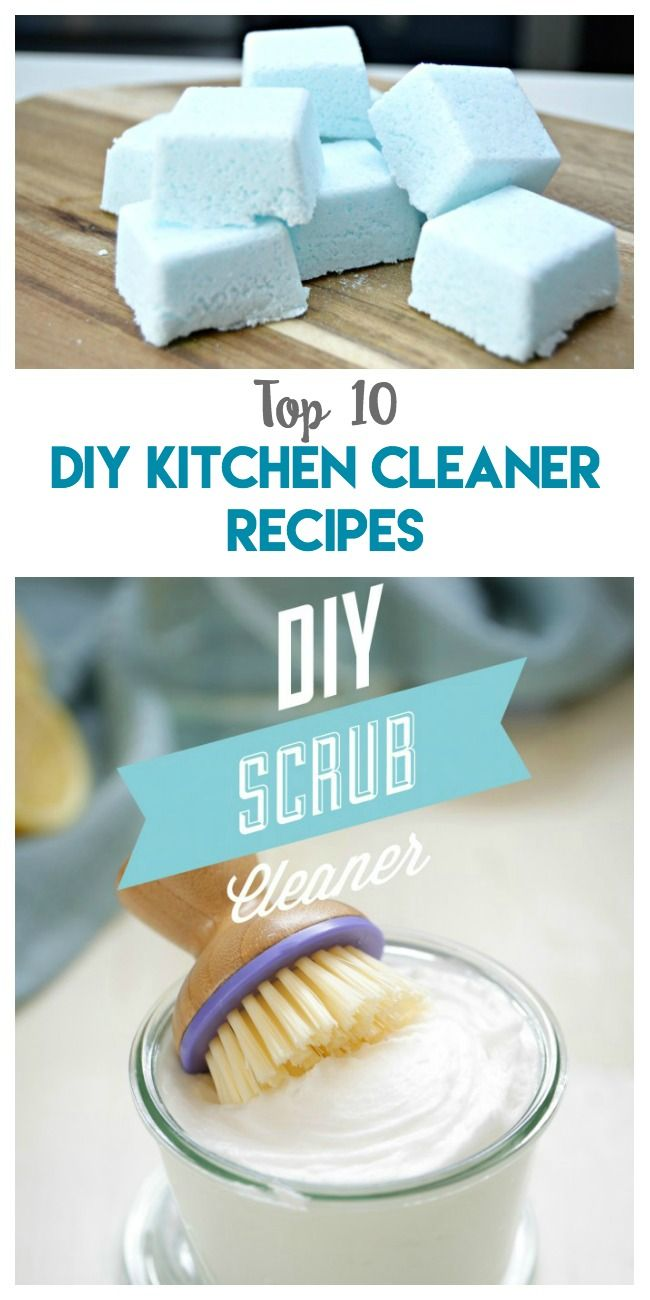 Top 10 DIY Kitchen Cleaner Recipes you'll want to make ASAP for a more natural clean! via @pinnedandrepinn