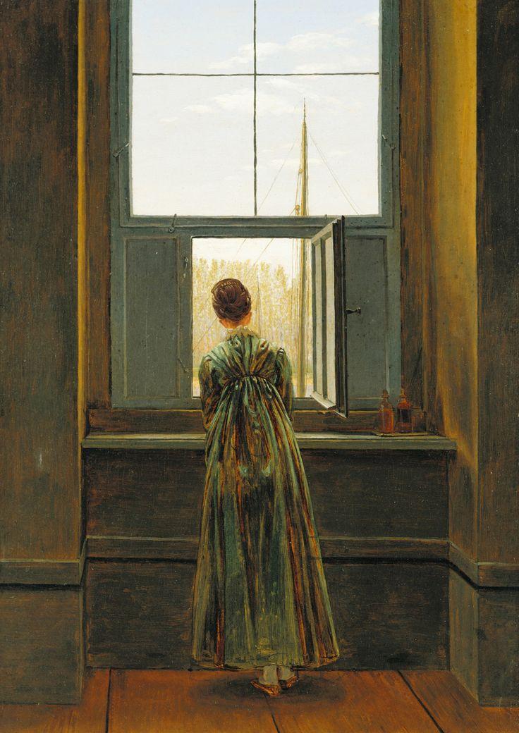 "artistic-depictions: "" Woman at a Window, Caspar David Friedrich, 1832, oil on canvas """