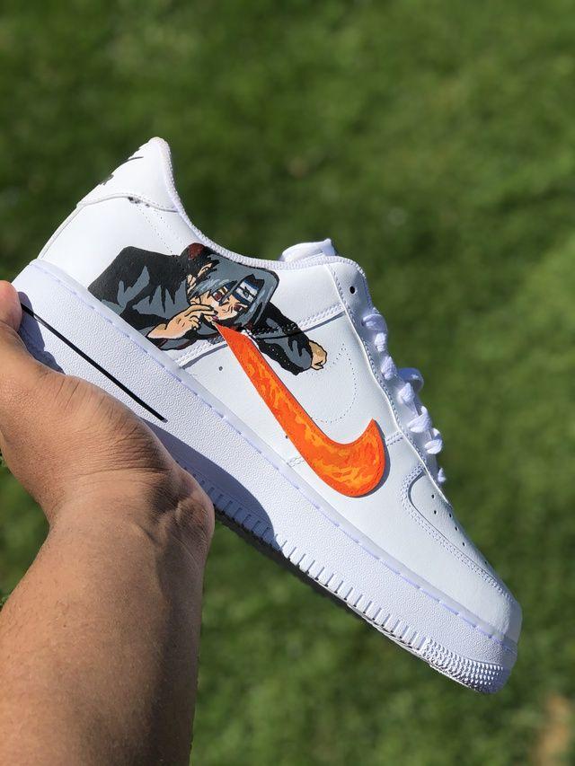 Uchiha Force 1s | THE CUSTOM MOVEMENT in 2021 | Nike fashion shoes ...