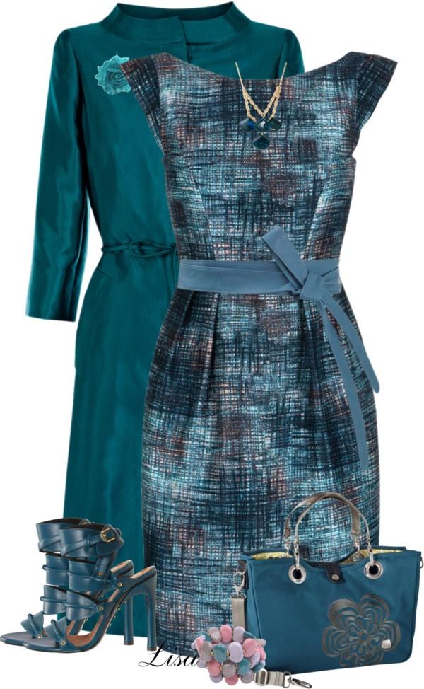 """Tara Jarmon Dress"" by lmm2nd on Polyvore"