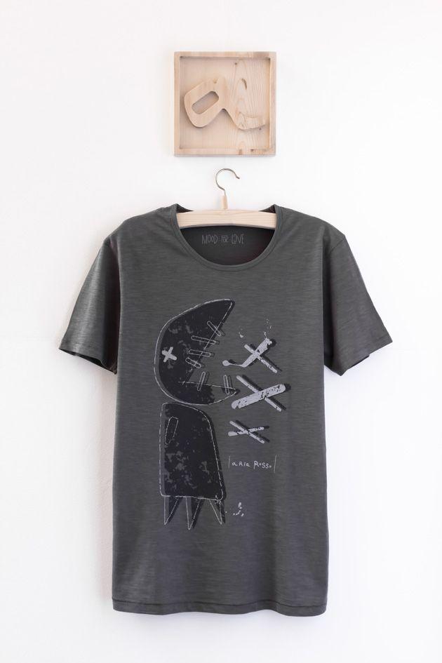 man graphic tee big fish ariarosso #graphictee #tshirtdesign #menswear #slub #antrhacite #mensteeshirt