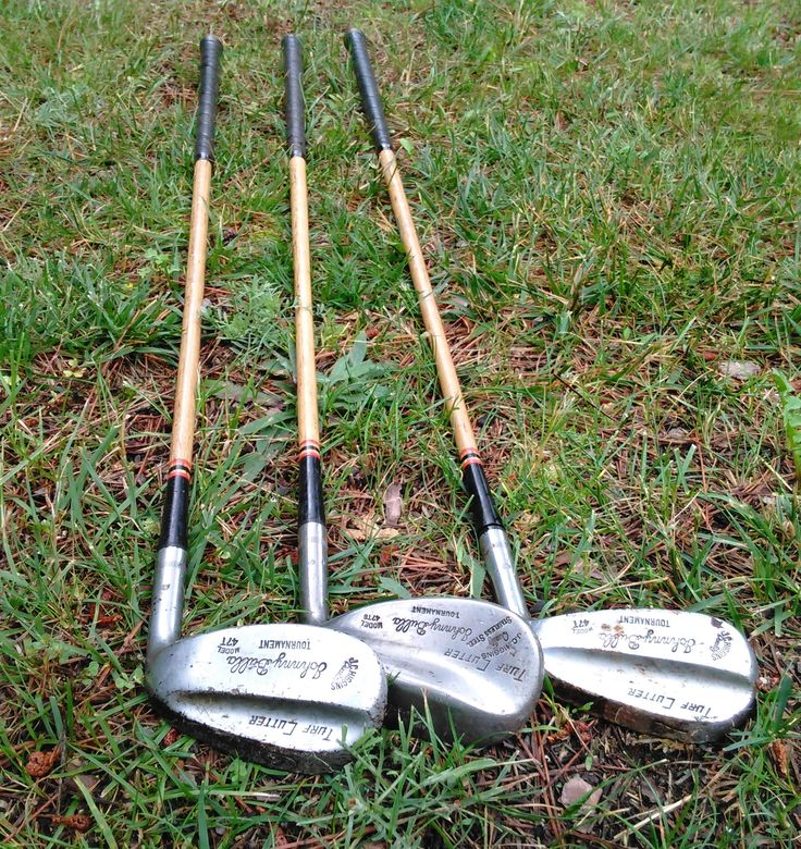 Vintage Golf Clubs - Wooden Golf Clubs - JC Higgins Golf Clubs - Set of 3 - Turf Cutter Golf Clubs by theindustrycottage on Etsy