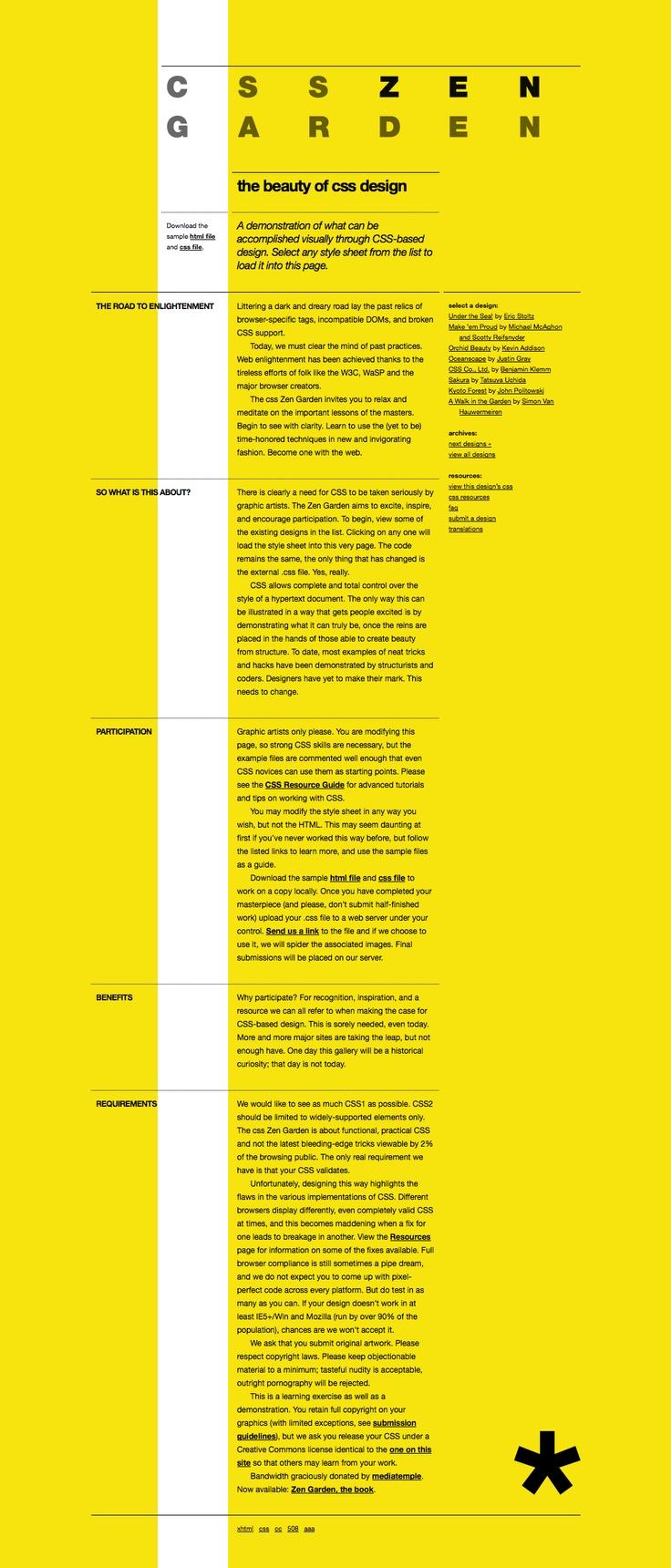 CSS Zen Garden: To Helvetica With It! #grid #single