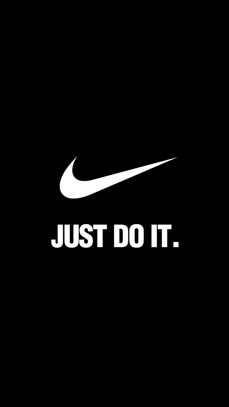 ↑↑TAP AND GET THE FREE APP! Logo Nike Brand Just Do It Motivation Sport Minimalism Black White HD iPhone 6 plus Wallpaper