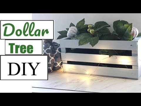DOLLAR TREE DIY | FARMHOUSE CRATE| FALL DECOR 2018…