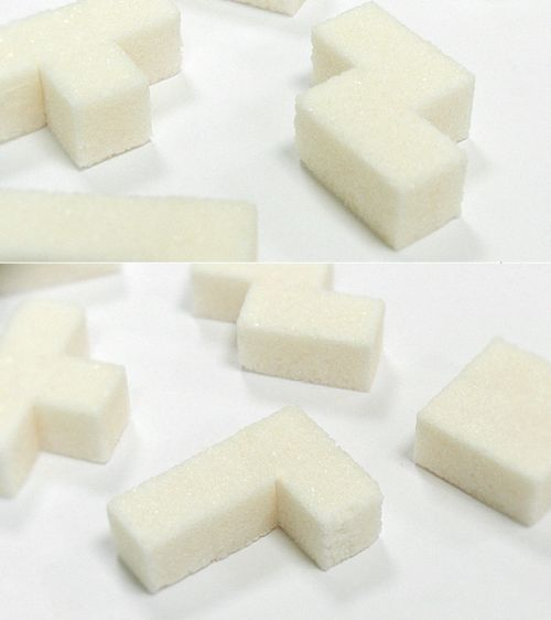Tetris Sugar Cubes.