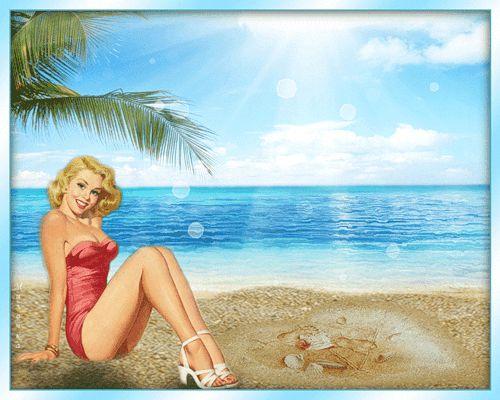 gify kobieta blondynka