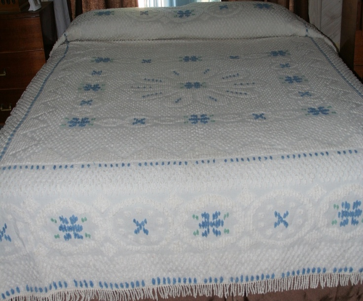 Vintage Queen Size Chenille Bedspread #TEAMSELLIT