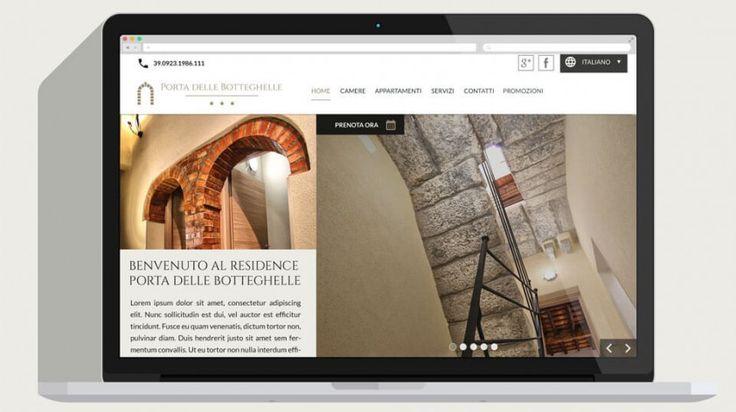Il Sito web del Residence porta delle Botteghelle visto su un dispositivo desktop